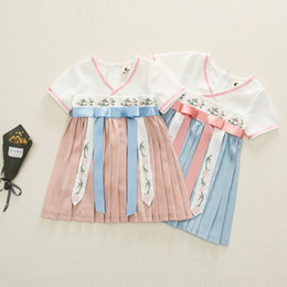 Wholesale chinese clothes skirts resale online - Girls Korean clothing summer new Korean style fashionable skirt children s baby cheongsam cheongsam Chinese style yjSqp