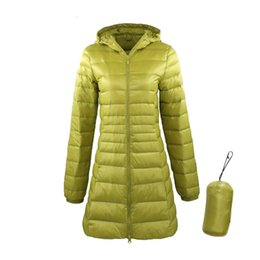 down jacket ultra long Australia - 7XL Ladies Long Warm Down Coat With Portable Storage Bag Women Ultra Light Down Jacket Women's Overcoats Hip-Length