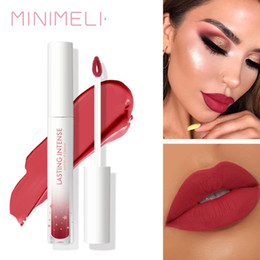 kiss proof lip matte Australia - MINIMELI 15 Colors Matte Liquid Lipstick Lip Cream Moisturize Lasting Waterproof Smooth Kiss-proof Lip Gloss Makeup Cosmetics