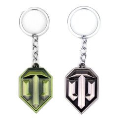 world cars Australia - Hot World of Tanks Keychain Gaming Peripherals OT Keyring for man women gift metal chaveiro fashion Tanks LOGO Car Accessories