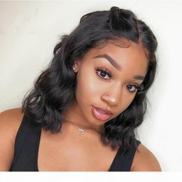 frontal wigs human hair NZ - Short Body Wave Wigs 100% Human Hair 13X6 Wigs long parting For Black Women 360 lace frontal wigs