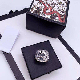 men snake ring UK - Top S925 Sterling Silver Ring Quality Man and Woman Ring King Snake Striped Personality Couple Ring Fashion Jewelry
