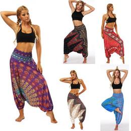 Wholesale baggy yoga pants for sale – dress Women Casual Loose Yoga Trousers Baggy Boho Aladdin Jumpsuit Harem Pants Seamless Pants Ropa Deporte Mujer Women Casual Loose