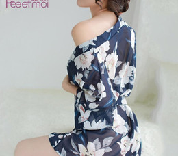 Discount sexy transparent uniform lingerie Feimu European and American Sexy Lingerie Sexy Pajamas Chiffon Transparent Nightdress Uniform Temptation Suit Large Size Foreign Trade98