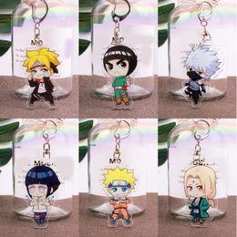 Wholesale kakashi hatake naruto cosplay resale online - Anime Hokage Cartoon Naruto Hatake Kakashi Pendant Keyring Acrylic Keychain Cosplay Prop Decor Boy Girl Gift
