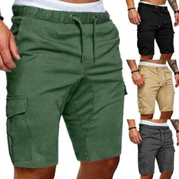 Wholesale cargo shorts men resale online - Mens Cargo Shorts Army Camouflage Tactical short cargo pants Men Loose Work Casual Short Plus Size bermuda masculina