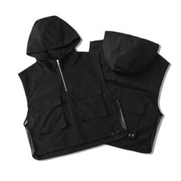 Wholesale women s european winter coats resale online - High quality New Autumn winter Zipper Hooded Men Women Fashion Casual Styles Black Pocket Polyster Vest Tank Coat