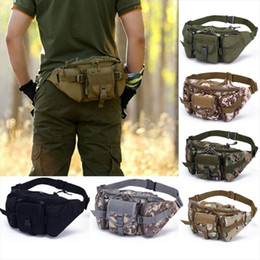 hiking water bottle waist bag 2020 - Utility Tactical Waist Pack Outdoor Bag Pouch Military Camping Hiking Waist Water Bottle Belt Bags Camouflage Waist Fann