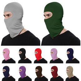 hats sun protection face cover UK - factory OutletUnisex Outdoor Balaclava Full Cover Face Neck Mask Scarf Turban Hat Caps Cycling Motorcycle Windproof Sun Protection Thin Wrap