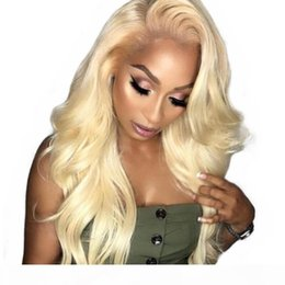 blonde body wave full lace NZ - Honey Blonde Human Hair Wig Pre Plucked With Baby Hair Vrgin Brazilian Body Wave 613 Blonde Full Lace Front Wigs For White Women