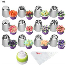 nozzle for pastry UK - 23pc Set Stainless Steel Pastry Nozzles For Cream Icing Piping Nozzles for Confectionery Tips Baking Tool Cake Decorating Tools Y200612