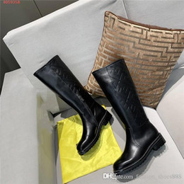 Wholesale locomotive leather for sale - Group buy Autumn winter new lady letter leather Half boot comfortable wear resisting low heel white locomotive boot With original box