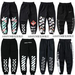 Wholesale off white men pants for sale – dress The latest fashion brand off now white tulip lovers sketch D pants casual pants pants Plush Leggings