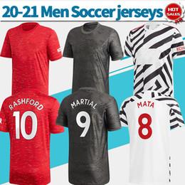 Wholesale red gold shirt resale online – Man utd shirt home red soccer jersey VAN DE BEEK B FERNANDES GREENWOOD away black rd zebra Customized football shirt