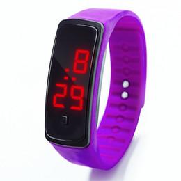 Wholesale Fashion Men Candy Silicone Strap Touch Square Dial Digital Bracelet LED Sport Wrist Watch Women Kids Watches relojes