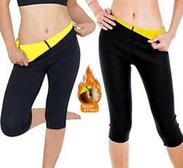 black thermal pants Australia - Women Slimming Fit Thermal Hot Short Pants Ladies Neoprene Weight Skinny Slin Flexible Body Shaper Sporty Training Gym Trouster