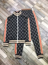 full body suit pattern NZ - autumn and winter new men's casual zipper suit, zipper accessories, full-body marking jacquard pattern, customized thread, fashionable dress