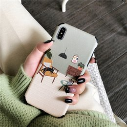 floral iphone 11 case Canada - Silk Matte Floral Phone Case for Iphone 11 Case Cartoon Tpu for Iphone 7 11 Pro Xr X Max 8 Plus Soft Cover