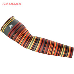 Discount gold arm warmers Bike Leg Sleeve Arm Sleeve Rainbow Bars Black UV Protection Cycling Arm Warmer Breathable Bicycle Running Racing MTB