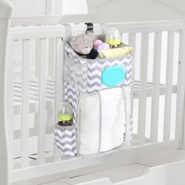 baby care clothes UK - Baby Bed Organizer Hanging Bags For Newborn Crib Diaper Storage Bags Baby Care Organizer Infant Bedding Nursing