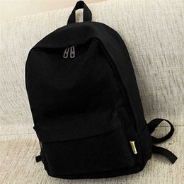 Best Sale College Style Canvas Pure Color Backpack Fashion Adolescent Girl Backpack Female School Travel Bag 9Vud#
