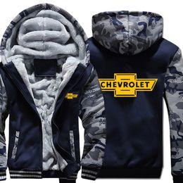 Wholesale chevrolet hoodie online – oversize Hoodies Winter Camouflage sleeve Jacket Fleece Chevrolet Men Sweatshirt
