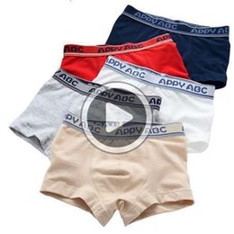 boxer underwear for boys UK - 5 Pcs lot 3-Kinds Style Soft Organic Cotton Kids Boys Underwear Children's Boxer For Boy Shorts Panties Teenage Underwear 2-16y