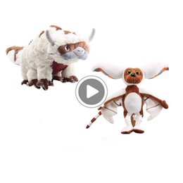soft toy cow NZ - New arrival Cotton Avatar Last Airbender 45CM Appa 28cm Momo Plush Toys Soft Juguetes Cow Stuffed Toy For Gifts 2pcs Lot NOOM012