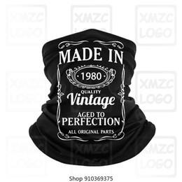Wholesale funny 40th birthday online – design Funny New Th Birthday Vintage Years Old Bandana Men Cotton Bandana TBandana TBandana Camiseta Brand Clothing