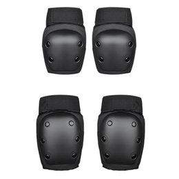 skate gear NZ - 4Pcs Protective Gear with Helmet,Sports Safety Equipment Child Pads of Elbow Knee, for Skateboarding, Cycling and Skating
