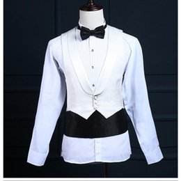 Wholesale groom tuxedo long jacket styles for sale - Group buy Na31 Groom Tuxedos Groomsman Blazer Men S Wedding Dress Prom Clothing Tuxedos Jacket Pants Vest Black Long Style Male Suits
