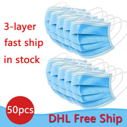 556V DHL Free Shipping Disposable Mask 3-ply Face Mask Protection and Personal Health Mask with Earloop Mouth Face Sanitary Masks
