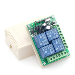 dc motor remote control Australia - emote Controls KTNNKG DC 12V 10A 4CH Wireless Remote Switch Relay Module Smart Home Automation Multi-fonction Motor Controller 433MHz Rec...