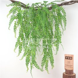 plastic green vines Australia - 86CM length Plastic Persian Grass Hanging Vine Leaves Artificial green Plants Garland Home Garden wall Decorations