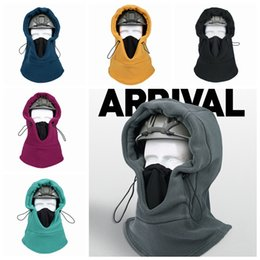 sports face guard Australia - Riding Mask Winter Outdoor Sports Ski Fleece Warm Hood Ear Neck Guard Multifunction Scarf Collars Thickening Cap Full Face Masks LJJP272