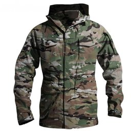 Wholesale m65 military jackets resale online - M65 UK US Tactical Military Windbreaker Jackets Mens Waterproof Hoodie Flight Pilot Coat Army Multi pocket Casual Jackets