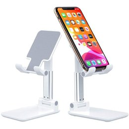 Desktop Tablet Table Adjustable Mobile Phone Foldable Holder Stand For iPad Smartphone iPhone Samsung Huawei Xiaomi