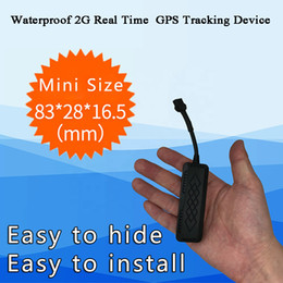 Wholesale tracking cell phones resale online - Waterproof G GSM Vehicle GPS Tracker V Real time tracking route tracer Phone APP alarm SMS Truck Motorcycle positioning