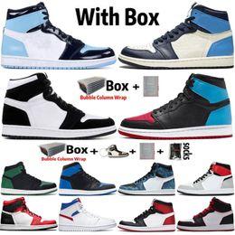 Toptan satış 2020 Jumpman Yüksek OG 1 İlk 3 1s çevirin UNC için Chicago Erkek Kadınlar Basketbol Ayakkabı Giysi S Obsidian Travis Scotts Eğitmenler Spor Spor ayakkabılar