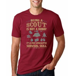 scout shorts UK - Scout Post Apocalyptic Survival Skill Men's T-Shirt T shirt Brand 2020 Male Short Sleeve Adult T-Shirt S-2Xl New Men Cotton