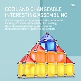 venda por atacado fornecimento de fábrica magnéticos Building Block Set Magnetic Brinquedos Tiles educativos para crianças colorido do bloco da vara magnética