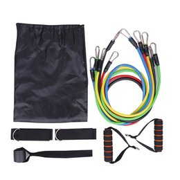resistance strap exercises UK - Workout Bands Pull Rope 11pcs Set Fitness Resistance Bands Exercises Latex Tubes Pedal Training Strap Body Enhancement Elastic Yoga