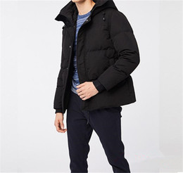 Wholesale canadian coats resale online - 2020 New Style Joker Hot Sale Down Coat Canadian Casual Handsome Fashion Business Goose Down Warm Winter Jacket For Man