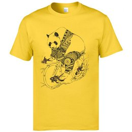panda tee UK - Panda Cycle Tshirts Koi Fish Funny T Shirts Park Street Tees For Men Yellow Fashion Short Sleeve Sweatshirt Family Tshirts XXL