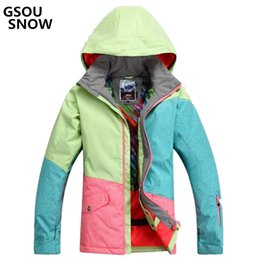 gsou snow women s jacket NZ - Gsou snow For women s jacket ski suit Camp for horse riding Ski Sport Waterproof 10000 windproof snowboard super Warm Jacket