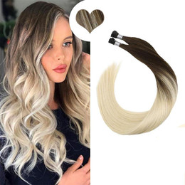 A Dilys I Tip Hair Extensions Pre Bonded Hair Machine Remy Fusion Straight Human Hair 14 -22 Inch
