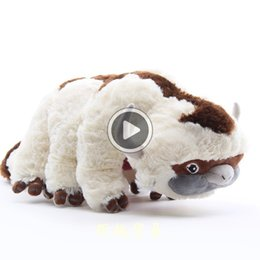 soft toy cow NZ - New arrival 100% Cotton Avatar Last Airbender Appa Plush Toys Soft Juguetes Cow Stuffed Toy For Gifts 45CM NOOM013