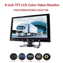 lcd monitor inch hdmi NZ - Mini TV View Computer Security Display HDMI VGA AV BNC input Car Monitor 8 inch TFT LCD monitor For Rear View Reverse Camera