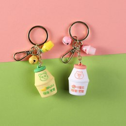 key ring puppy Australia - 7uQZR Cat beverage bottle key chain creative practical gift gift puppy key chain ring small ornament small pendant Pendant accessories Ring