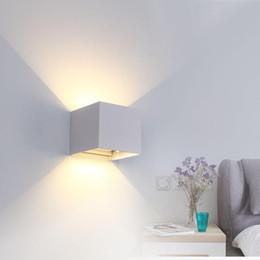 Toptan satış IP65 Ayarlanabilir 6W LED Duvar Lambası Açık Su geçirmez Bahçe Koridor Işık Kapalı Merdivenler Koridor Yatak Odası Duvar Işıklar Sanatsal Lambası